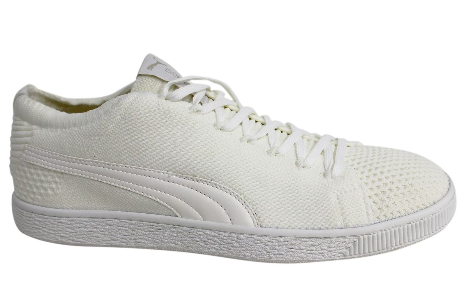 Puma Basket EvoKNIT 3D Lace Up Off White Mens Textile Trainers 363650 02 M11 New shoes for men and women, limited time discount