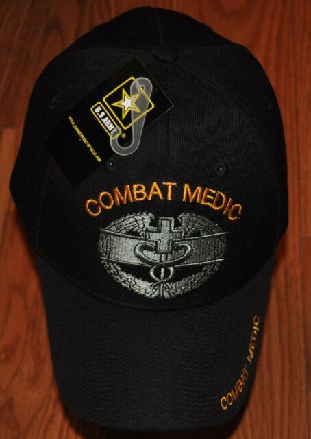 1c81c6ab9a2 Black Combat Medic US Army Hat Ball Cap Veteran Military for sale ...