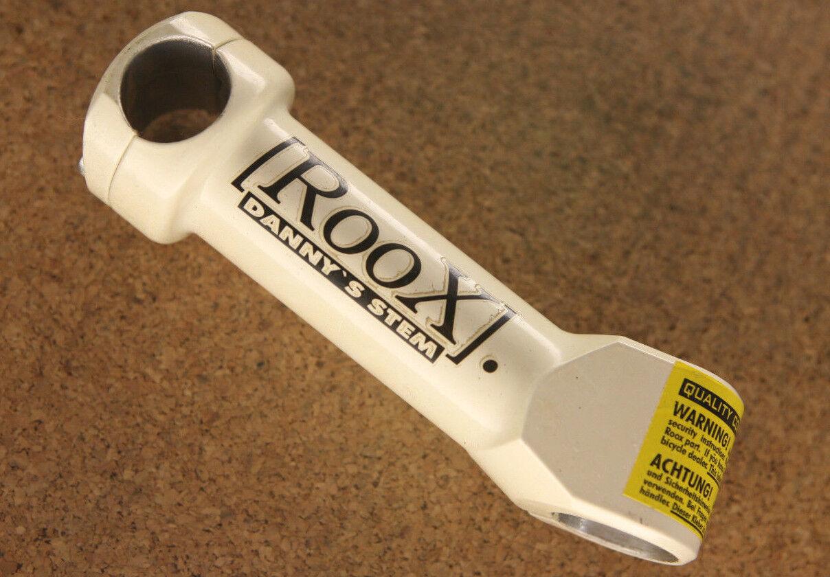 De colección Reedición Nuevo ROOX blancoo  Danny's vástago 1-1 8  por delante del tallo 125mm 25.4 ATB MTB  alta calidad