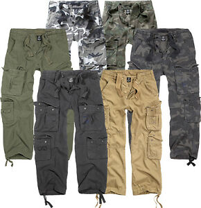 Details about Brandit Cargo Trousers Pure Vintage Men Cargo Trousers Army Style Cargo Pants Long New b93 show original title