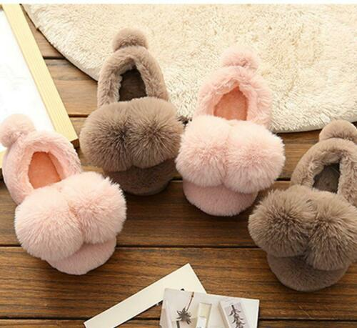 Warm Kids Cotton Shoes Slippers Girls Boy Thick Bottom Home Cute Indoor Winter