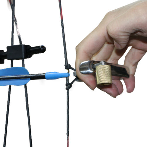 Stainless Steel Finger Thumb Release Aids Compound Bow Trigger Hunting Shooting