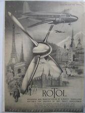 10/1946 PUB ROTOL GLOUCESTER PROPELLERS AIRCRAFT ENGINES ORIGINAL AD