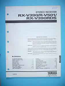 Original Tv, Video & Audio Methodisch Service Manual Für Yamaha Rx-v390/r-v501