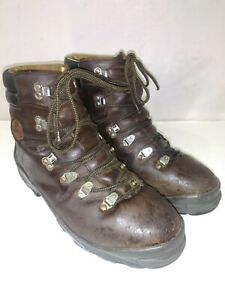 Asolo-Mountaineering-Trail-Hiking-Boots-Mens-US-11-Brown-Pully-Laces-Good-Cond