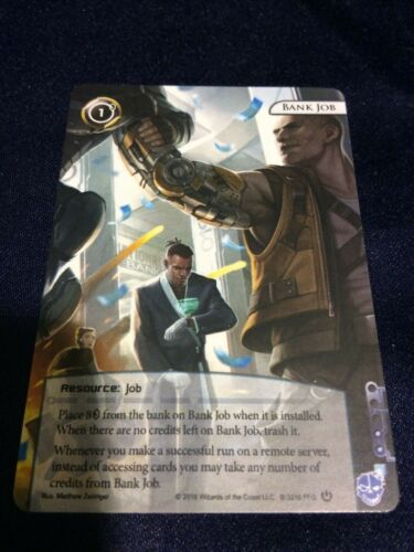 Android Netrunner Promo Bank Job Card