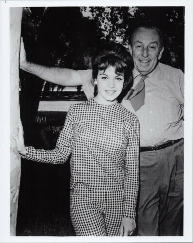 Annette Funicello poses with Walt Disney 8x10 photo