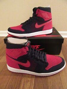 sports shoes f6952 f4b4f Image is loading Nike-Air-Jordan-1-Retro-Hi-Flyknit-Size-