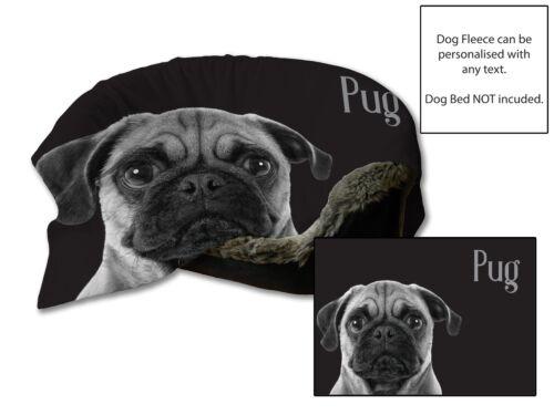45x31 Pug Design Dog Bed Car Blanket Soft Fleece Throw Cover Pet Animal