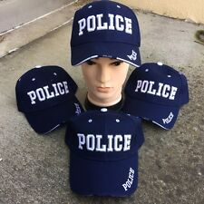 WHOLESALE LOT 4 X BLUE POLICE New Baseball Caps Adjustable HAT HT-88 BL 4 LOT