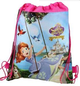 Disney Sofia the First BACK TO SCHOOL Drawstring Gym PE Swim Bag
