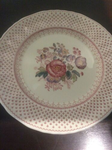 Franciscan Wall Plate With Brass Hanger Ironstone, Floral Pattern Collectable