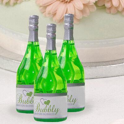 Wedding Bubbles Champagner Flasche 12 Stk Seifenblasen Gastgeschenk grün