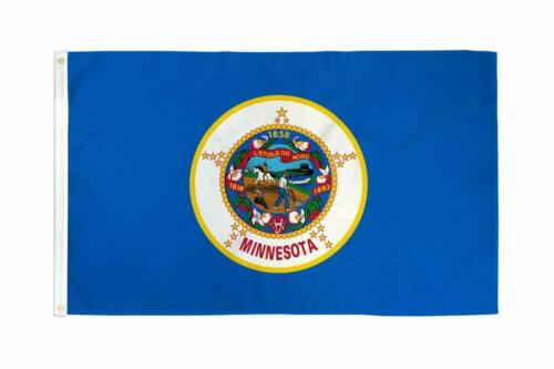 State of Minnesota Flag 100D 3x5FT MN Midwest Dorm Gift Man Cave St Paul