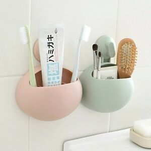 Bathroom Toothbrush Holder Wall Suction Paste Tissue Home Stationary Storage