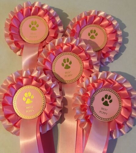 5 X 2 Tier Rosettes Best Puppy Rosettes FREE POSTAGE