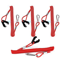 4× Boat Outboard Engine Motor Lanyard Kill Stop Switch Safety Tether For Tohatsu