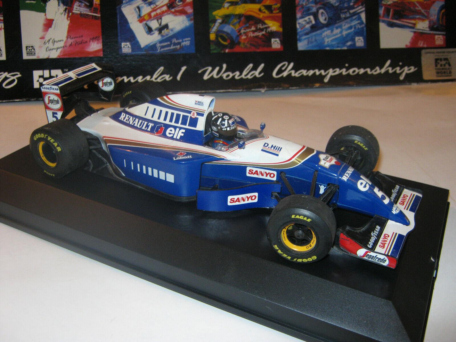 1 18 Williams Renault FW16 D. Hill 1994 Sanyo Minichamps in BRANDNEW Showcase