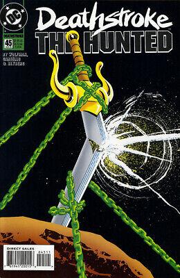DEATHSTROKE THE HUNTED #45 NM 1995 Wolfman Cariello DC COMICS *ShipFree w$35 Com