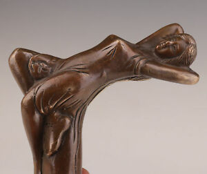 WALKING-STICK-CANE-HEAD-BRONZE-CASTING-WOMAN-STATUE-ACCESSORIES-COLLECTABLE-WA
