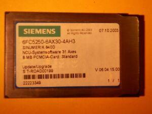 SIEMENS 6FC5250-6AX30-4AH3 6FC52506AX304AH3 SINUMERIK 840D NCU 31AXES 8MB PCMCIA