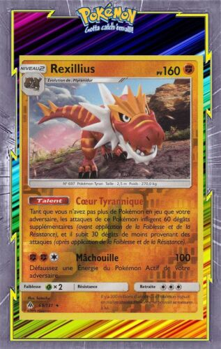 69//131-Carte Pokemon Neuve Française SL06:Lumière Interdite Rexillius Reverse