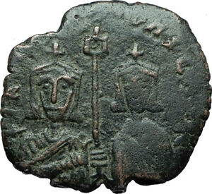 BASIL-I-the-Macedonian-and-Son-CONSTANTINE-Ancient-Byzantine-Follis-Coin-i66240