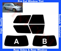 Pre Cut Window Tint Subaru Legacy Est 5D 94-98 Rear Window & Rear Sides AnyShade