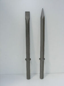 HEX 28 mm Breaker Steel Set of Point & Chisel 380mm u/c! Made UK! 530mm long!