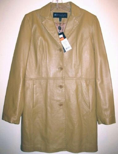 M Nwt Short 8 Tan Camel 10 Brown Coat Leather 298 Cole Kenneth Lambskin Jacket 00r7wE