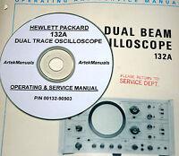 Hp Hewlett Packard 132a Dual Beam Oscilloscope, Manual, Operating & Service