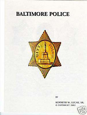 BALTIMORE POLICE Chronology of Badges by Lucas