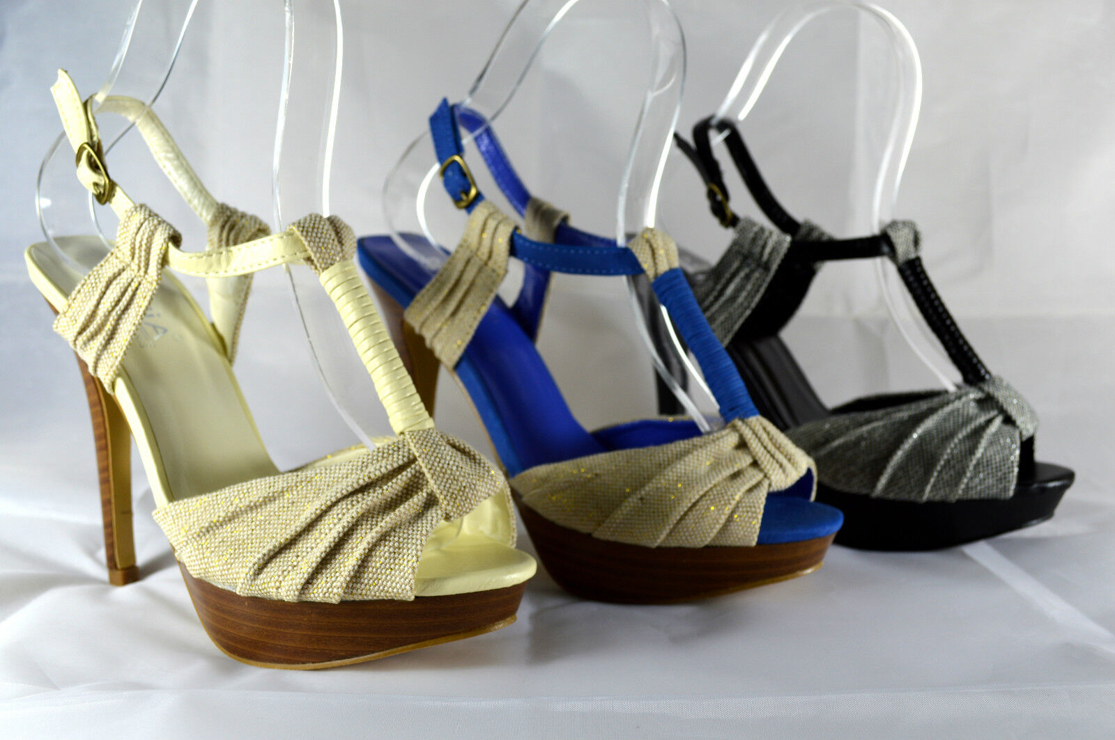 ELEGANT WOMEN'S STRAPPY Size SANDALS HIGH HEEL COURT SHOES Ankle-Strap Size STRAPPY 36-41 A. bb967f