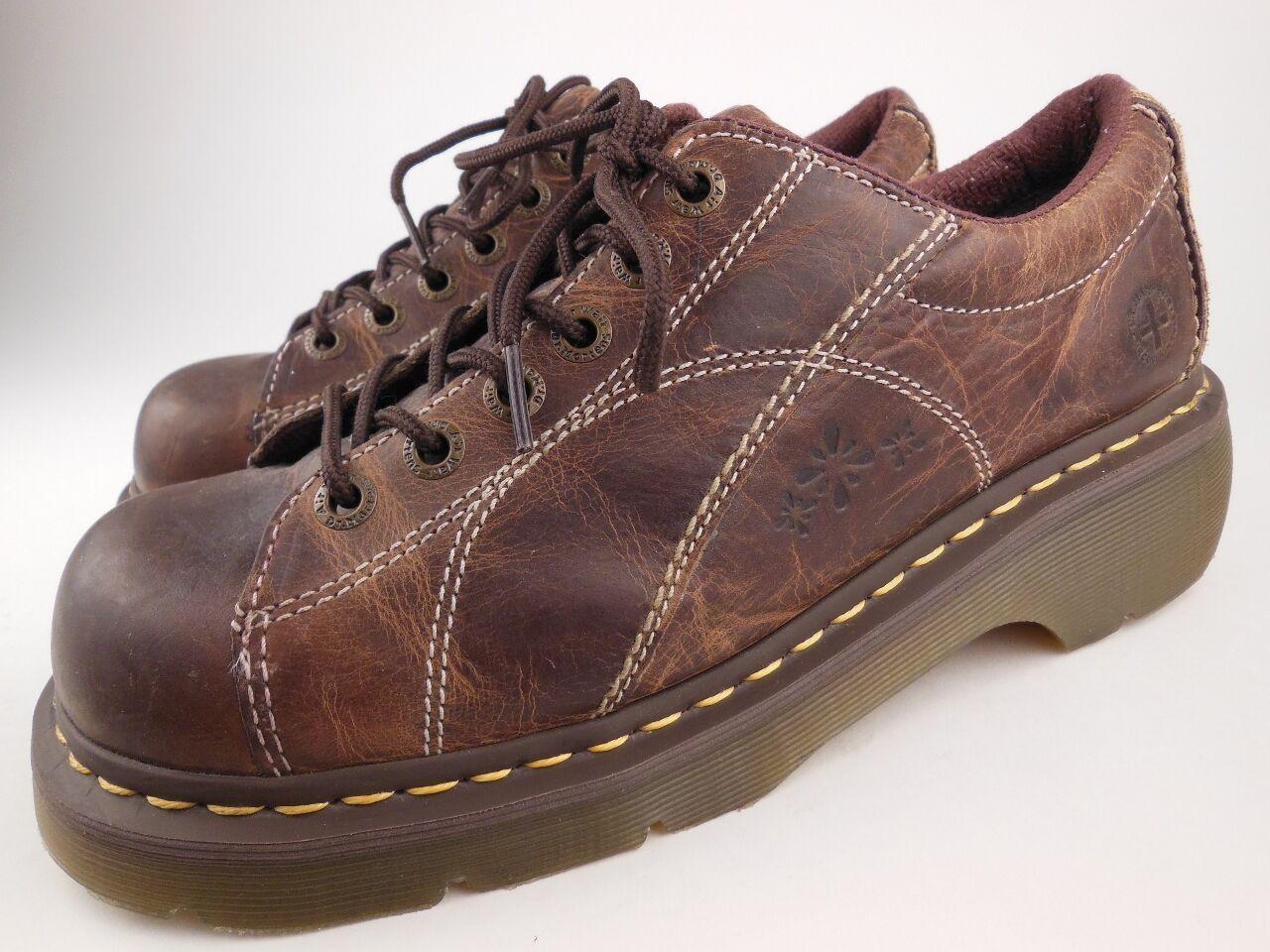 DR MARTENS 12283 Melissa Brown Leather Lace Up Oxfords shoes Women's Size 11