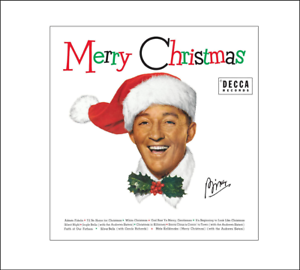 Mini Bing Crosby 'MERRY CHRISTMAS' record album Dollhouse 1:12 scale