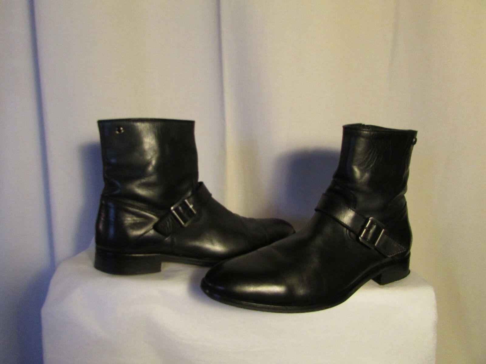 Stiefel Stiefletten IKKS schwarzes Leder 45