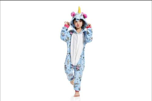 Kids Children Pajamas Kigurumi Unisex Cosplay Animal Costume Unicorn