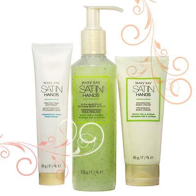 Mary Kay Satin Hands Hand Cream 85g + Softener Hand Cream 60g + Hand Peeling 220g