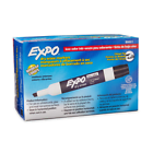 Expo 80001 Low Odor Chisel Dry Erase Marker, 12 Pack - Black