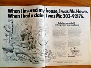 1980 Independent Insurance Agent Ad Represents You | eBay