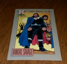 DC COMICS Earth's Mightiest Villians VANDAL SAVAGE Green Lantern Trading card