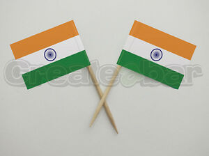 72-Indian-Flag-Picks-Buffet-Sandwich-Cupcake-Toppers-INDIA-Flags