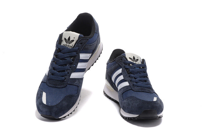 Adidas ZX 700 Unisex Navy azul Suede Zapatillas UK 5