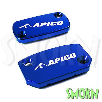 Apico Brake /& Clutch Reservoir Caps TM MX 125 250 450 06-18 Master Cylinder Blue