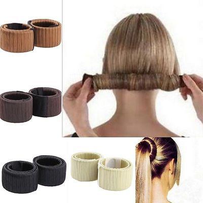 Women Girls Hair Styling Donut Former Foam French Twist Magic DIY Tool Bun Maker