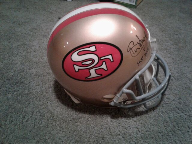 Steve Young Signed San Francisco 49ers Full Size Riddell Helmet HallofFame  2005 0a9f72090