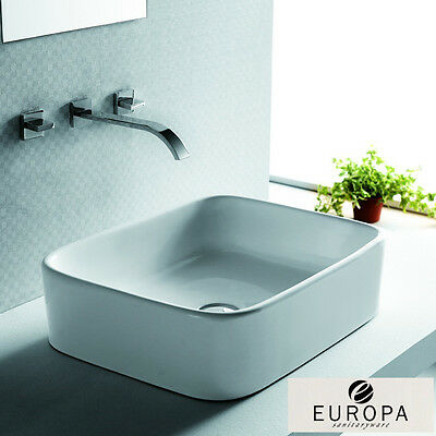 Europa Notus 480x370 0TH White Ceramic Counter Top Bathroom Basin A91