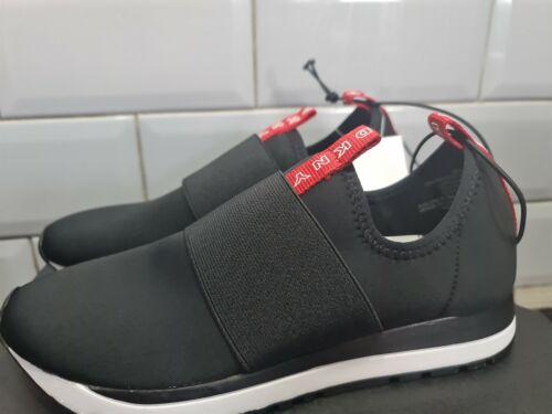 Ladies DKNY Jayla Black Red Slip On Shoes Sneakers Trainers UK 4.5 EU 37.5