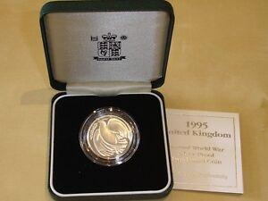 GROssBRITANNIEN-2-Pounds-1995-034-2-Weltkrieg-034-Silber-PP-OVP