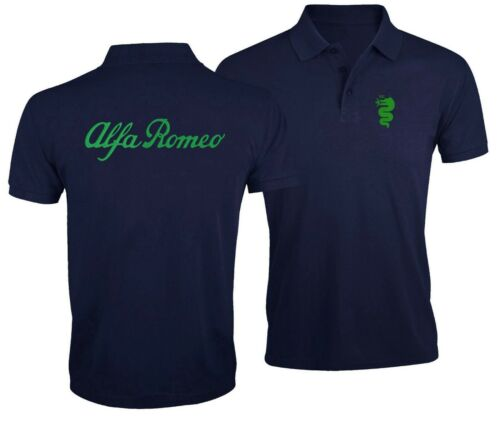 Alfa Romeo Car Auto Club Fan Sport Enthusiast Embroidered Man Polo Shirt Tee Top